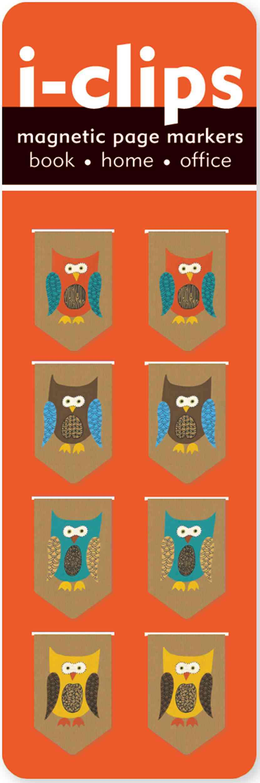 Owls i-clips Magnetic Page Markers By Peter Pauper Press (COR)